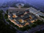 中式商业街园林建筑模型设计(max模型)