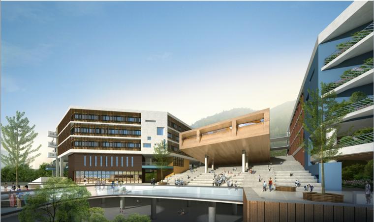 [广东]某新区学校建筑设计文本-效果图