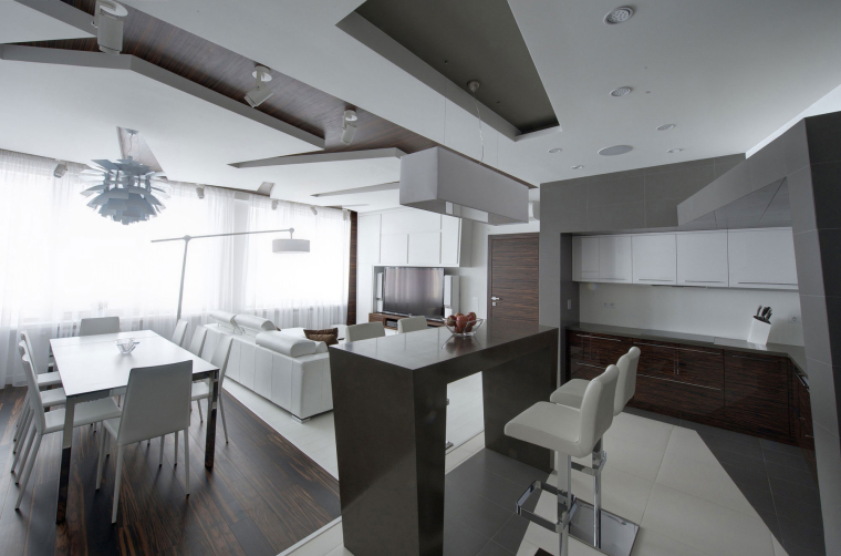 [住宅]俄罗斯某简约公寓设计效果图