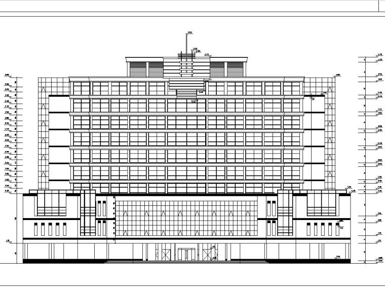 3套现代高层宾馆酒店建筑设计施工图CAD