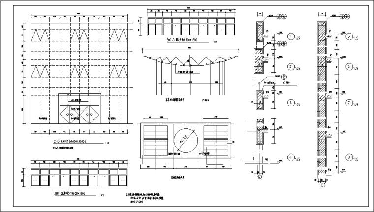 5套现代多层宾馆酒店建筑设计施工图CAD-多层宾馆建筑设计节点结构图