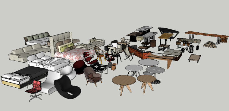CCD方案常用家具库草图模型(2)