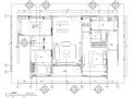 [广东]现代简约风格样板房装修施工图(附效果图)
