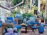 庭院里的青花瓷
