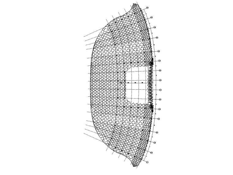[北京]地上五层(局部夹层一层)框架结构体育场结构施工图