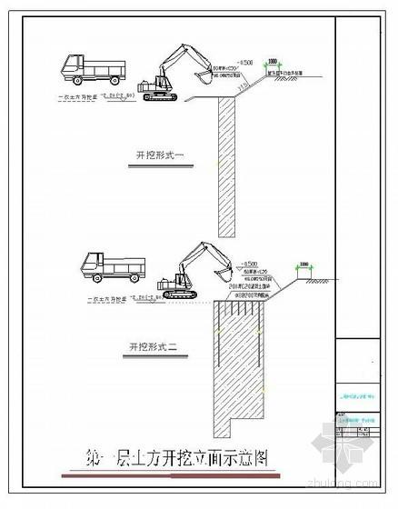 住宅工程基坑围护及土方开挖施工方案(平面布置图)