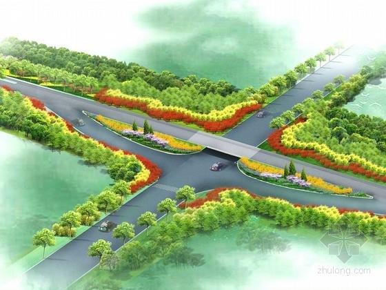 [山东]河流堤顶路绿化工程细化设计方案