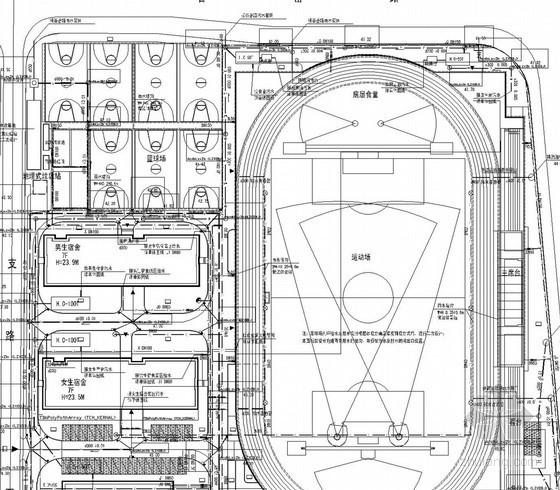 [湖南]中学校园建筑全套给排施工图(教学楼 办公楼 体育馆 科技楼)