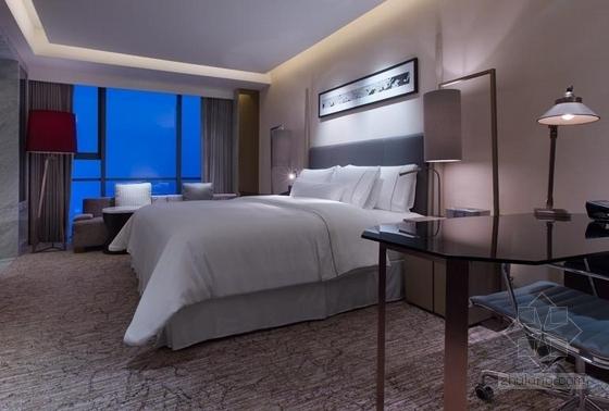 [浙江]全球国际化金融中心高档现代风格综合性酒店装修施工图(含效果)客房效果图