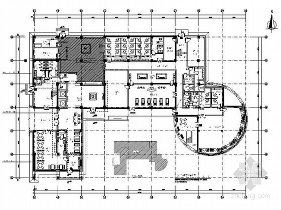 [北京]中国建筑企业技术中心现代高档办公楼CAD装修施工图(含全套方案)