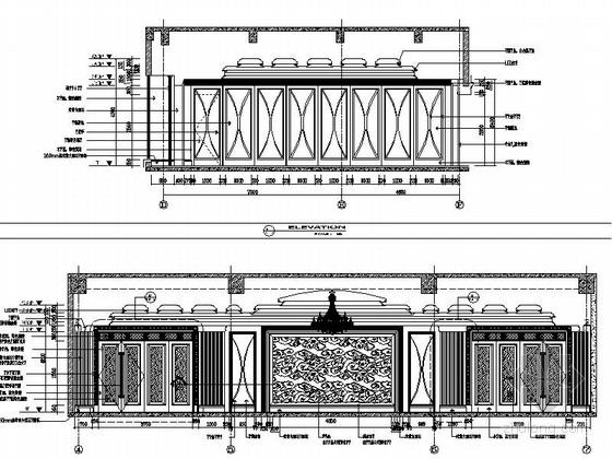 [苏州]奢华欧式风格商务会所三层健身娱乐区室内装修图(含效果)大会议室立面