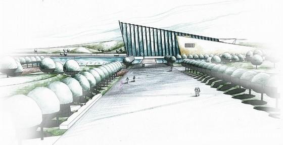 [武汉]爱国主义主题旅游核心区景观设计方案-透视效果图