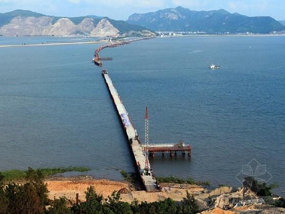 [浙江]33米宽续预应力刚构跨海大桥及互通连接线工程施工图961页(群桩基础)