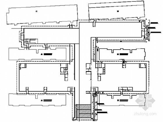 高层地下车库基坑支护结构施工设计图(土钉+护坡桩)
