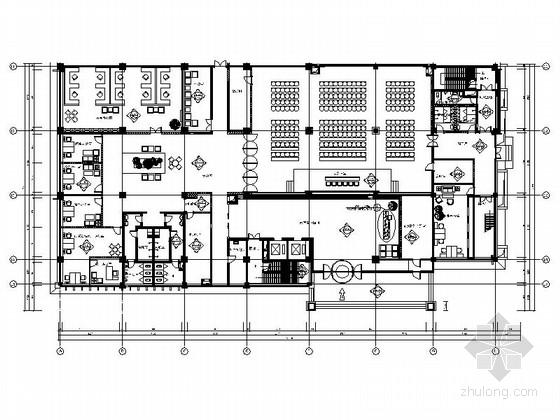 [辽宁]独创现代数字化国营企业综合办公楼室内装修全套施工图(含效果)
