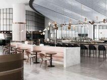迪拜地标旁的2000平米超大餐厅