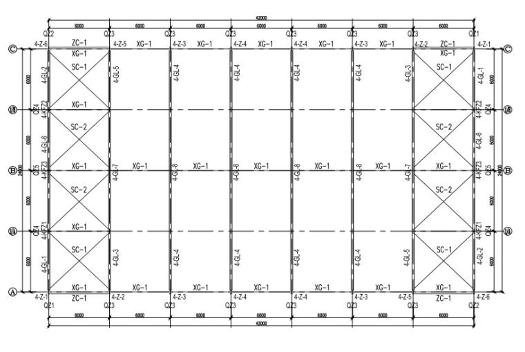 钢构厂房结构施工图(CAD、22张)