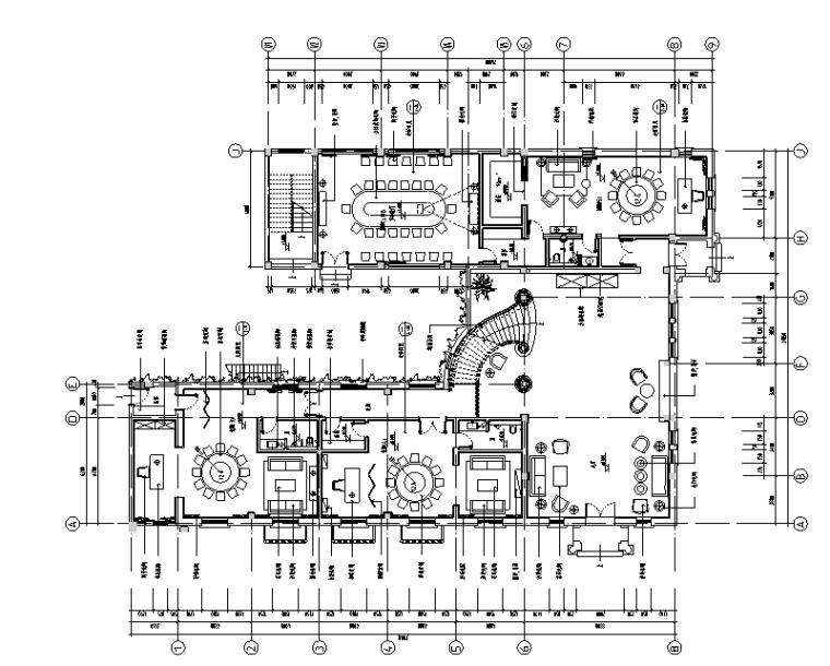 新中式禅意风格休闲会所空间设计施工图(附效果图)