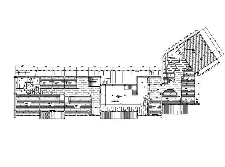 现代中式多层餐厅建筑设计施工图CAD