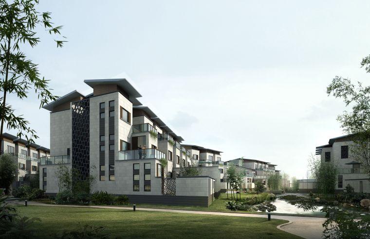 生态居住小区园林建筑模型(3dmax)-青石中式园林建筑模型23