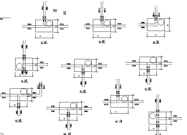 某小区室外给排水管网施工图设计(含阀门井大样)_3