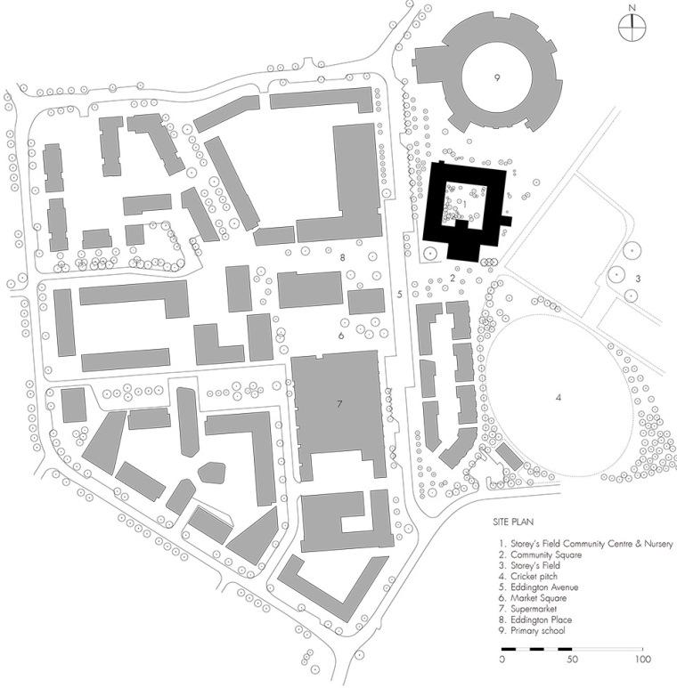 英国剑桥大学社区中心与托儿所平面图(18)