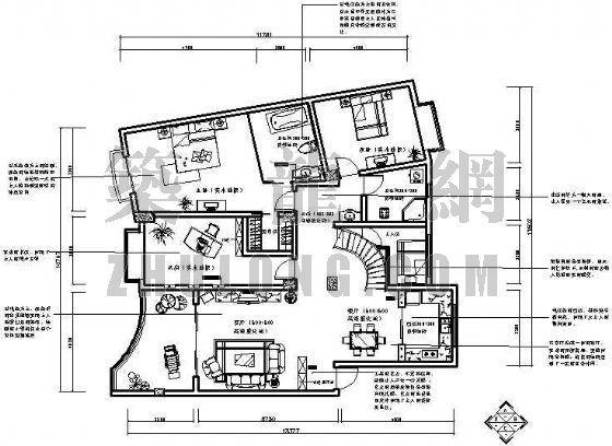 某室内设计(三室两厅两卫)