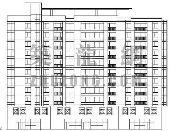板式小高层建筑图纸