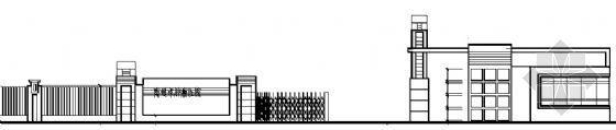大门传达室和门楼施工图