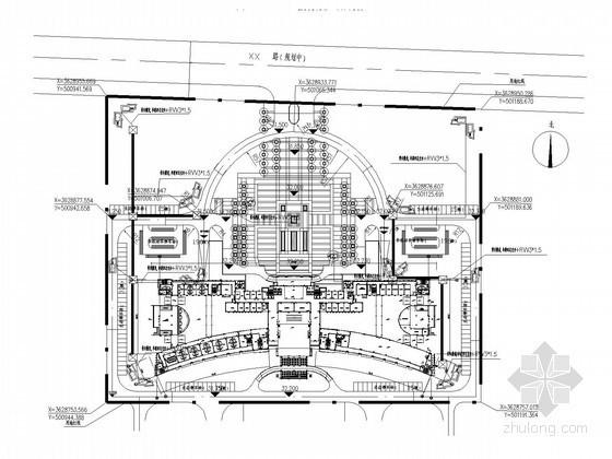 [安徽]办公大楼智能监控系统电气图