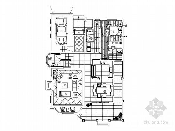 [武汉]精品花园双层别墅室内装修施工图