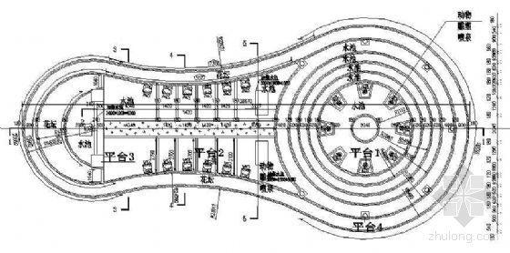 喷泉水池平台施工详图