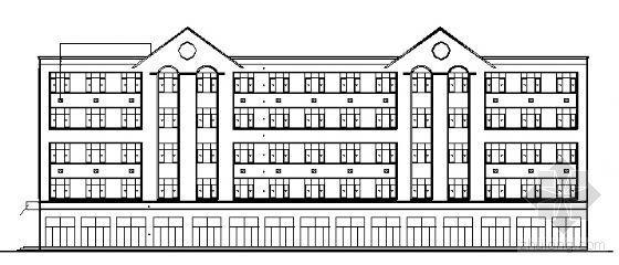 某大学生五层宿舍建筑方案图