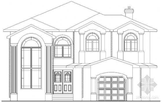 某二层欧式别墅建筑方案(七)
