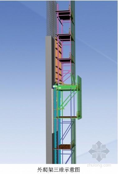 [深圳]高层办公楼核心筒液压爬模施工方案(JFYM100型爬模架)