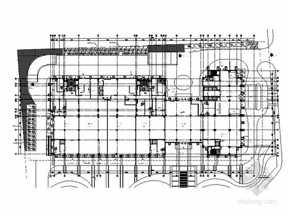 高层城市综合体建筑首层平面图