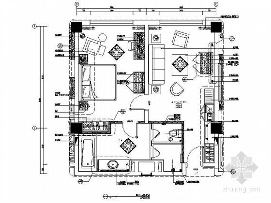 [吉林]五星级商务酒店标准套间装修图(含效果)