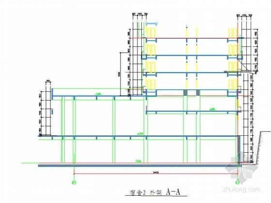 [广东]双排落地型钢悬挑脚手架施工方案(多图)