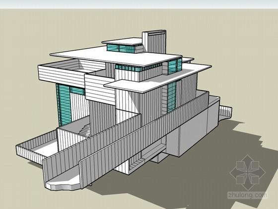 赖特别墅SketchUp模型下载