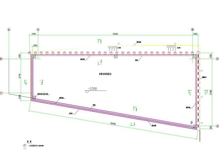 深基坑排桩支护施工图及计算书