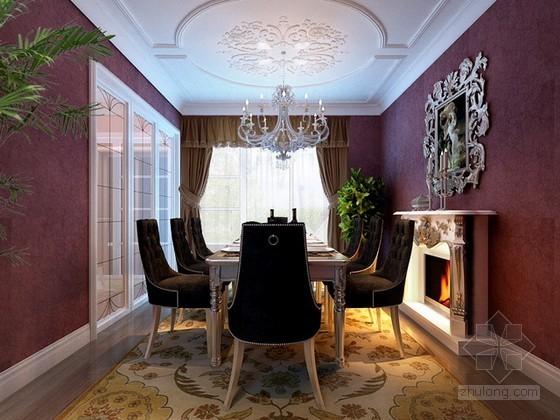 欧式古典风格餐厅3d模型下载