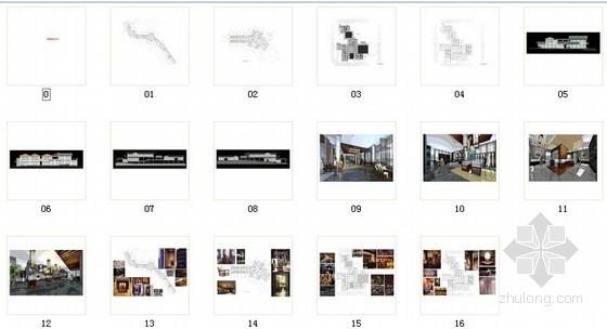 [深圳]中式风情文化主题快车旅馆室内装修方案图资料图纸总缩略图