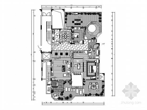 [东莞]东南亚风格两居室样板房装修图(含效果图)