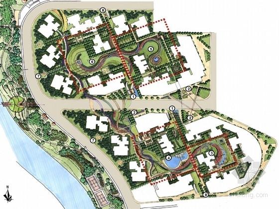 [四川]高档生态型住宅景观规划设计方案