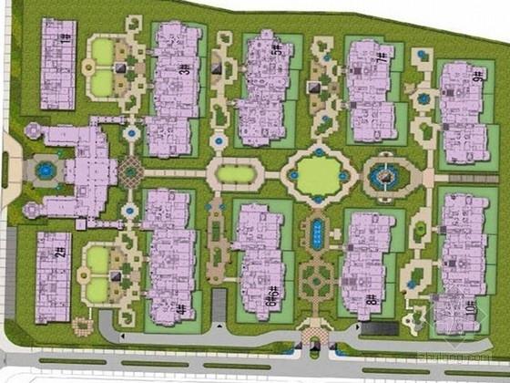 [上海]欧式皇家园林高档别墅区景观设计方案