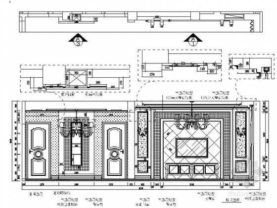 [石家庄]综合性社区典雅欧式复式装修图(含实景)客厅餐厅立面图