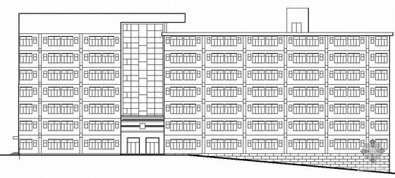 [长沙]某职业学院宿舍楼建筑结构方案图(带PPT)