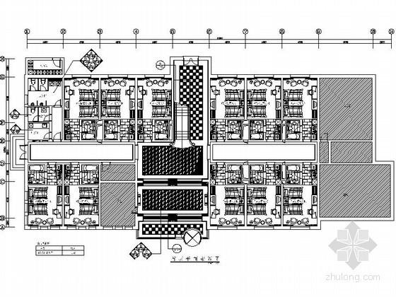 [常州]现代风宾馆改造室内装修施工图(含效果)