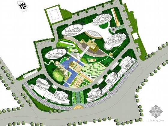 上海滨江小区景观设计方案
