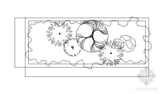 某花坛设计及植物配置图